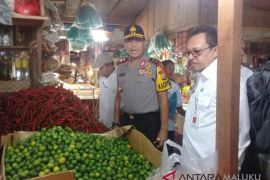 Kapolda Maluku sidak pasar tradisional Mardika