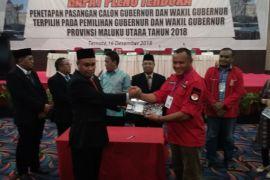 KPU Malut tetapkan AGK/YA pemenang Pilkada