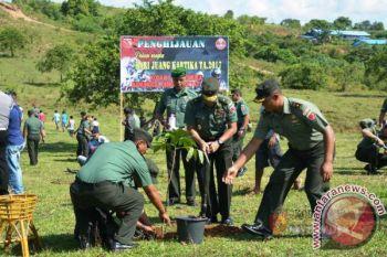Kodam Pattimura Lakukan Penghijauan di Desa Hatu