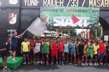 """Yonif Raider 733/Masariku Gelar """"Farewell Run"""""""