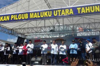 Empat pasangan cagub/cawagub Malut tandatangani deklarasi damai