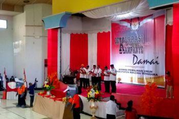 Tiga paslon bupati-wakil bupati malra deklarasi pilkada damai