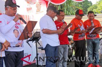 Tiga paslon deklarasi kampanye damai di Ambon