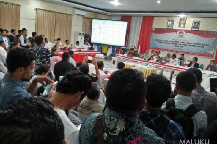 KPU Tetapkan Hasil Pilkada Gubernur Maluku