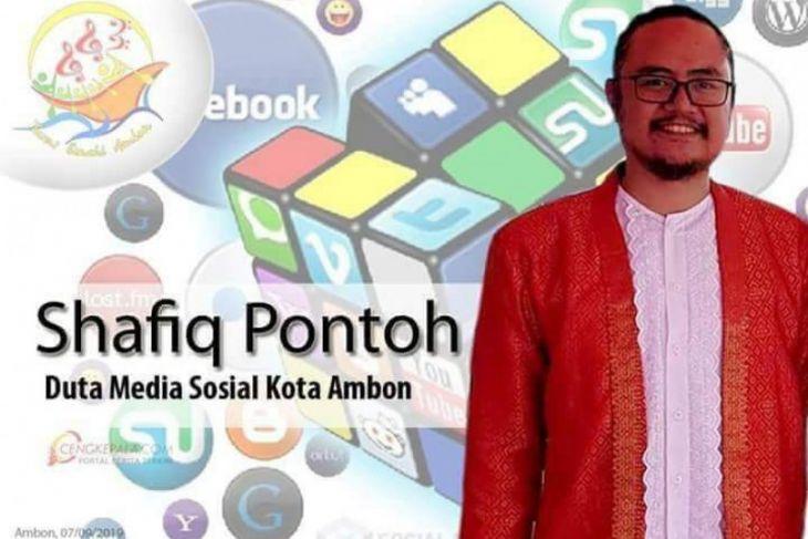Shafiq Pontoh duta medsos Ambon