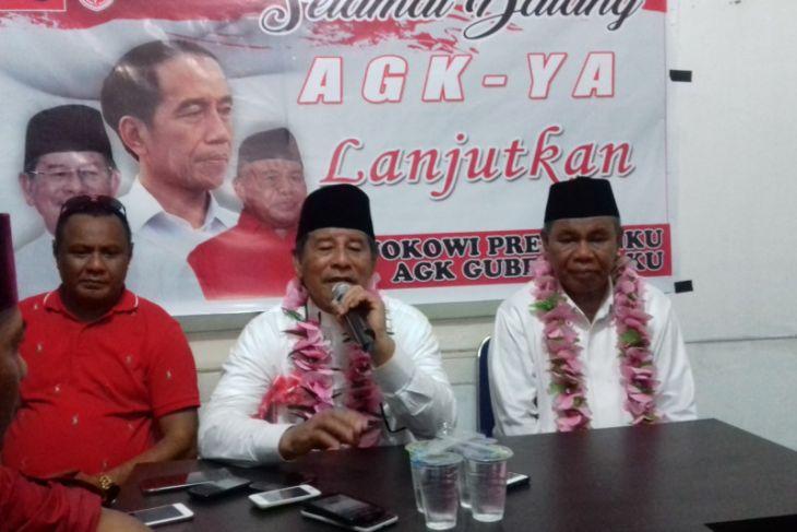 Paslon AGK-YA unggul 1.352 suara atas AHM-Rivai