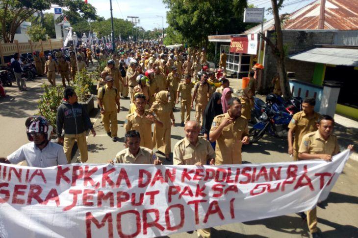 Wabup Morotai minta demo bupati tidak anarkis