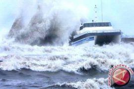 BMKG: gelombang jalur penyeberangan di Babel 3-6 meter
