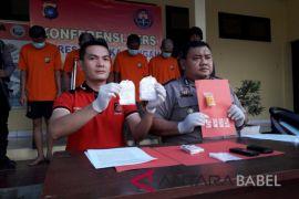 Polres Bangka Tengah tangkap empat pelaku penyalahguna narkoba