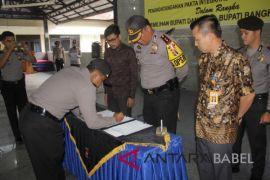 Polres Bangka tanda tangan pakta integritas netralitas pilkada