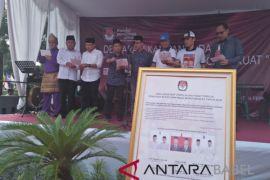 KPU Bangka dan paslon deklarasi kampanye damai
