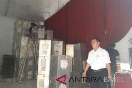 KPU Bangka pindahkan logistik pilkada tak terpakai