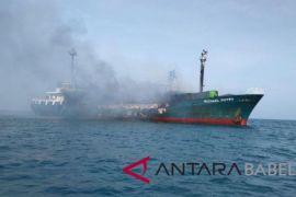 Kapal penumpang terbakar di perairan Gelasa
