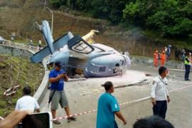 Helikopter jatuh di Morowali