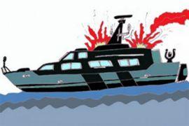 Sembilan luka akibat mesin kapal Dishub Kepulauan Seribu meledak