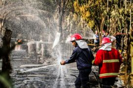 Aroma gas masih terasa di sumur minyak Aceh