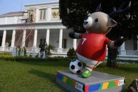 Istana berhias maskot Asian Games