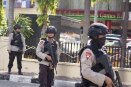 Pengamanan pascateror Polda Riau
