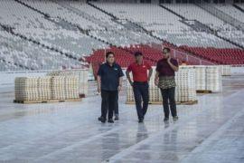 Persiapan pembukaan Asian Games 2018