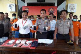 Polres Bangka Tengah tangkap 10 pelaku kriminal