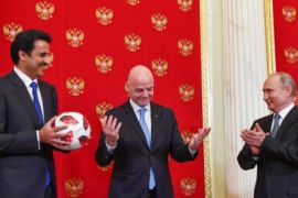 Presiden Rusia serahkan tanggung jawab tuan rumah Piala Dunia 2022 kepada Qatar
