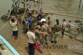 Polres Bangka amankan belasan penambang Sungai Baturusa