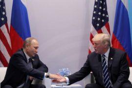 Trump-Putin duduk bersama di Helsinki