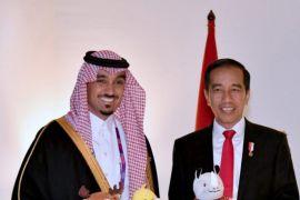 Presiden Jokowi terima kunjungan Wakil Ketua Dewan Olahraga Arab Saudi