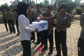 Polisi Bangka galang dana korban gempa Lombok
