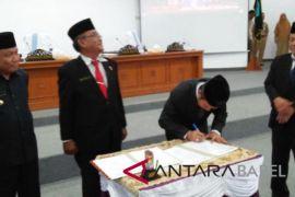 DPRD Bangka paripurnakan pengunduran diri bupati-wakil bupati