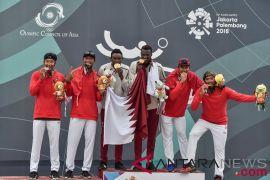 Perebutan Medali Emas Voli Pantai Putra Indonesia Vs Qatar