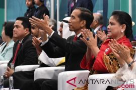 Presiden Joko Widodo Menghadiri Pembukaan Asian Games 2018