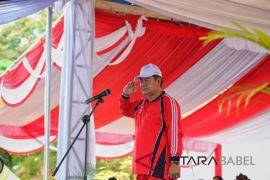 107 peserta ikuti pawai baris indah di Bangka Selatan