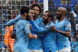 Manchester City pesta gol 5-0 di markas Cardiff