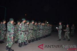 TNI gelar apel malam menuju Donggala