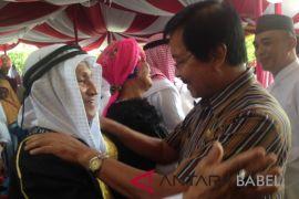 Wagub Babel sambut kedatangan jamaah haji Bangka Selatan