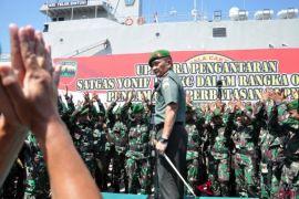 450 prajurit TNI di perbatasan Papua Nugini kembali ke Kalbar