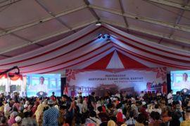 Presiden Jokowi bagikan 6.000 sertifikat tanah di Banten