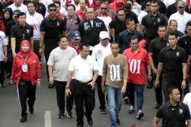 Ribuan warga ikuti jalan sehat bersama Jokowi