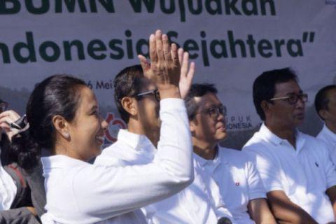 Rini Soemarno beri pembekalan 4.000 agen Mekaar PT PNM