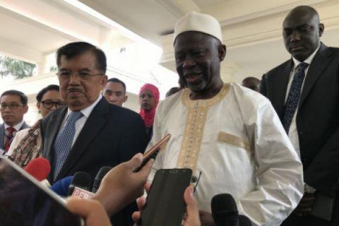 Wapres terima kunjungan kehormatan Wapres Gambia