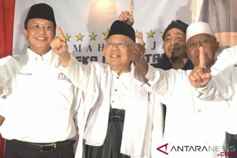 Ma'ruf Amin mengaku didukung habib muda