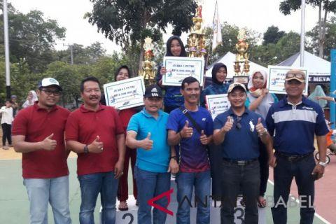 IKT merah putri juarai Semi Open Bola Voli Timah Cup