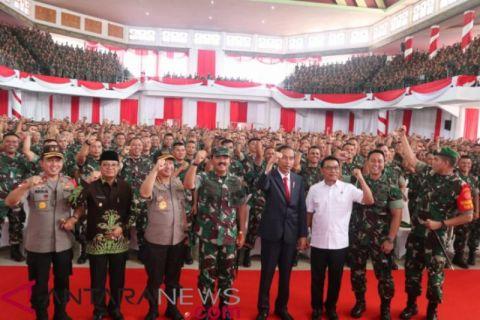 Presiden Jokowi minta Babinsa cegah konflik di desa