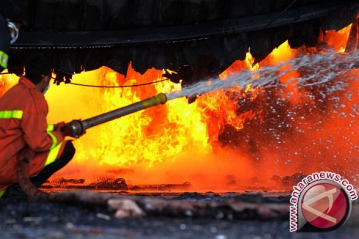 Rumah Dinas Pejabat Polda Jawa Barat Terbakar