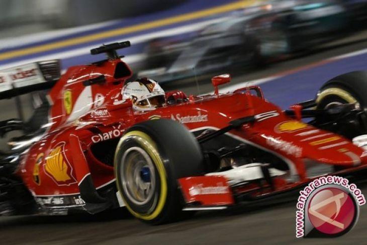 Pebalap Ferrari Vettel start pertama GP China - ANTARA News Bangka ... 27fe79058a