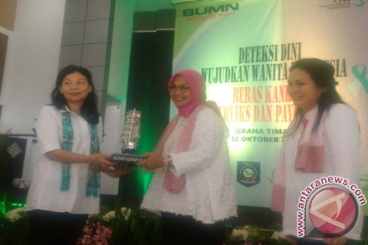 Ratnawati Ajak Masyarakat Bangka Belitung Tes IVA