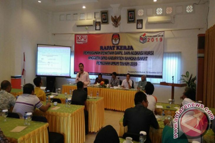 KPU Bangka Barat Menyosialisasikan Dapil Pemilu 2019