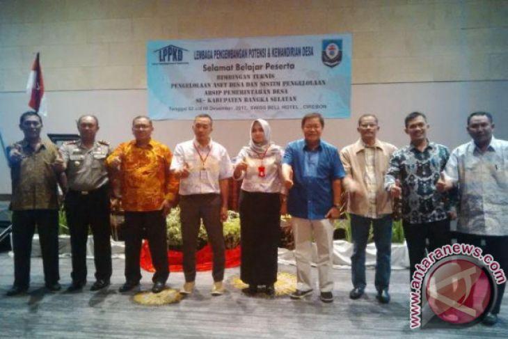 Perangkat Desa Bangka Selatan Belajar Kelola Aset di Cirebon