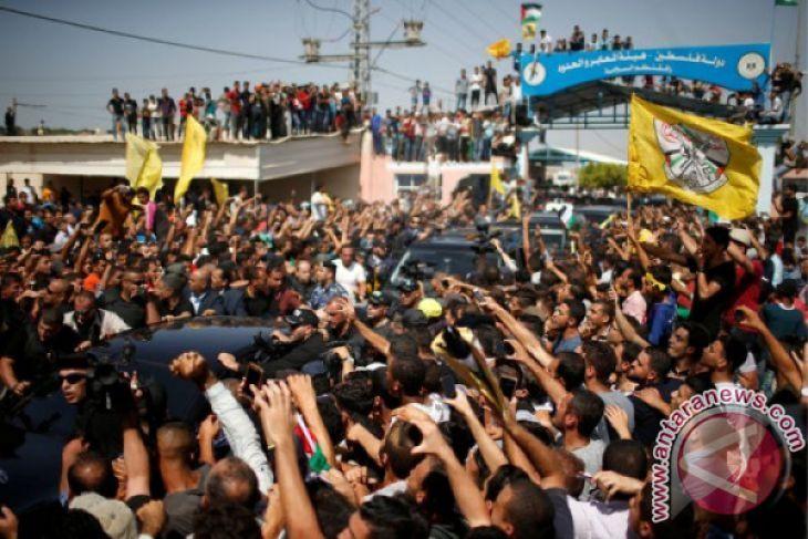 Ribuan warga Palestina berkumpul di perbatasan Gaza